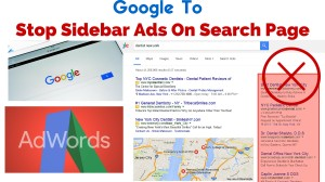 Google to Stop Sidebar Ads On Search Page