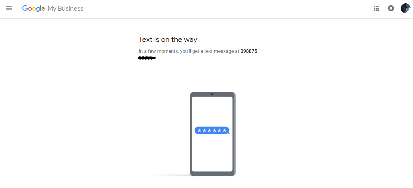 Google Add Business Location Verification By Text Message