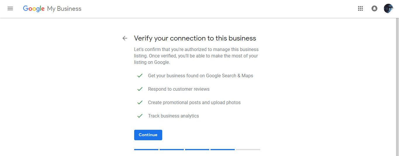 Google Add Business Location Verifying Details