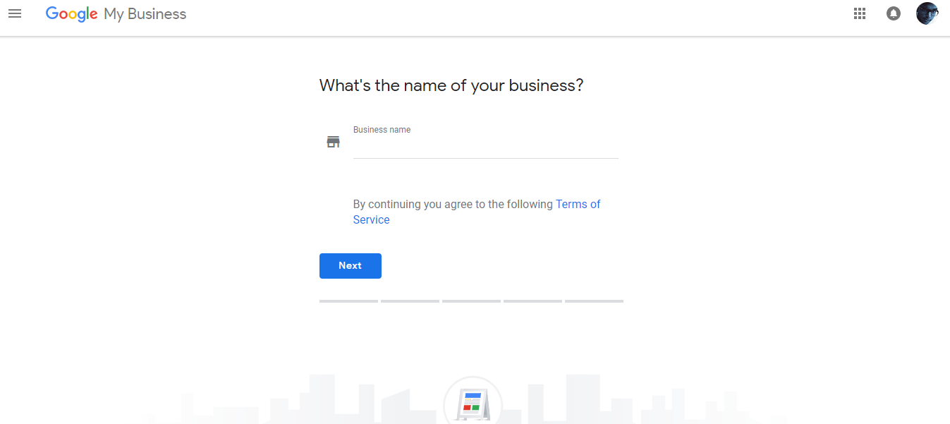 Google Add Business Set Up Name