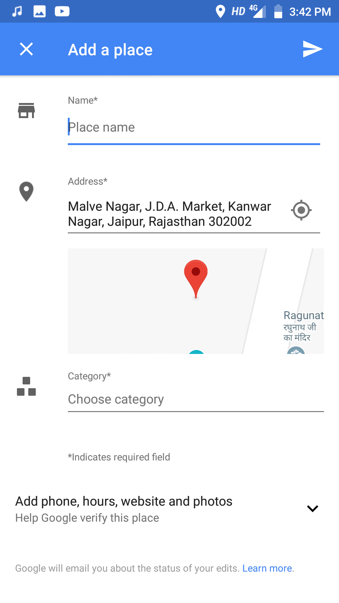 Add a Missing Place on Google Maps