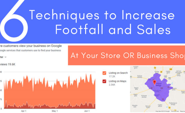 6 Techniques to Increase Footfall and Sales at Your Store OR Business Shop