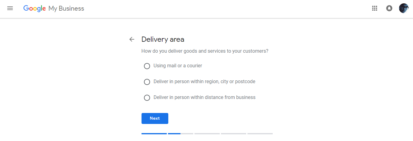 Google Add Business Location Delivery Area
