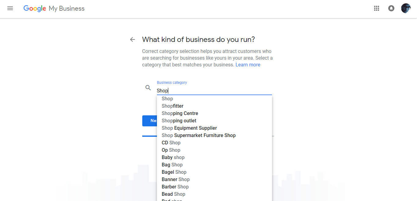 Google Add Business Location Business Category