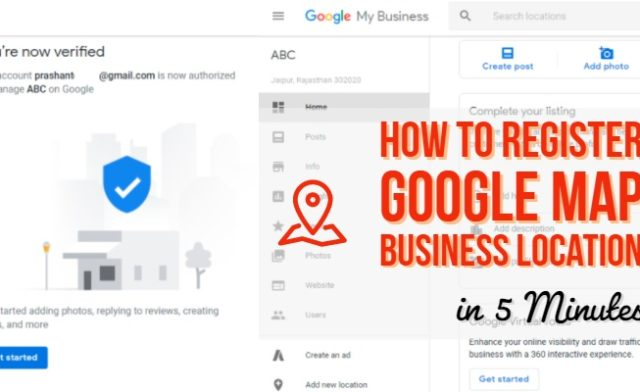 Register Google Map Business Location in 5 Minutes
